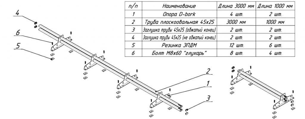 Снегозадержатель для металлочерепицы D-bork